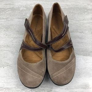 Naturalizer Brown Suede Mary Jane Flats